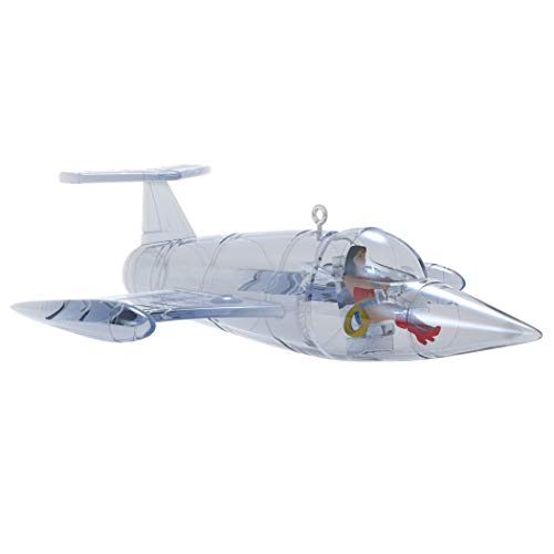 Hallmark Keepsake Christmas Ornament 2019 Year Dated DC Comics Wonder Woman Invisible Jet, (Best Wonder Woman Moments)