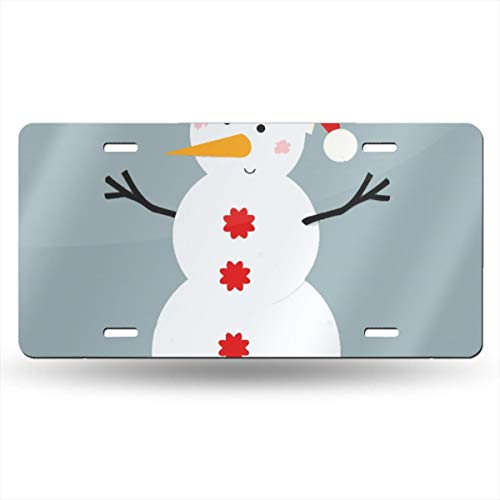 WHAOJ Personalized Paper Snowman Vector Car License Plate