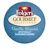 FOLGERS GOURMET SELECTIONS VANILLA BISCOTTI COFFEE 120 K CUPS