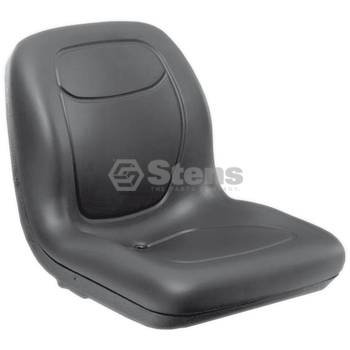 "Stens 420-360 High Back Seat, Replaces Genie: 123137, John Deere: VG12160, Simplicity: 1731999, 1731999SM, Waterproof vinyl, 18-5/8"" x 18-3/4"" x 22"", Black"