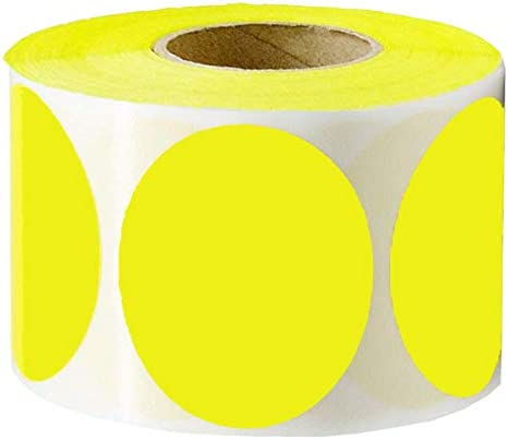 Remarkable Round Color Fluorescent Self Adhesive