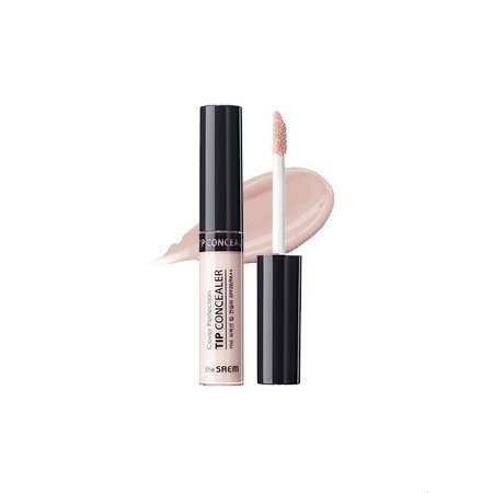 [the SAEM] Cover Perfection Tip Concealer SPF28 PA++ 6.5g # Brightener - Light Pink Brightener Brightens up Tired Eyes