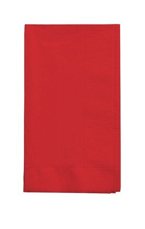 (Creative Converting 50 gorgeous CLASSIC RED Dinner Napkins for Wedding, Party, Bridal or Baby Shower, Disposable Bulk Supply Quality Product)