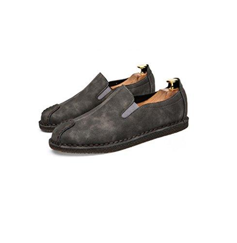 Randonnée Saison Sports Hommes Sangle Point Couleur Robe Doux Chaussures Antidérapante Cachemire Point Occasionnels Plage Ronde zmlsc Grey P1zwn
