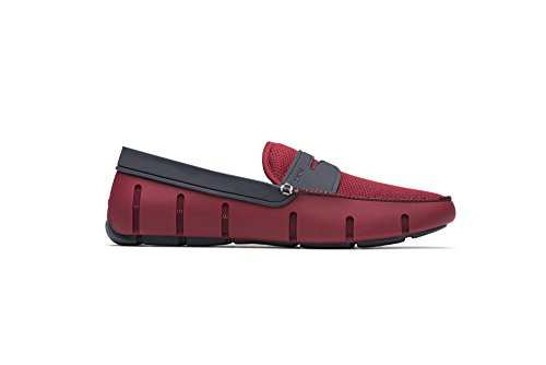 SWIMS Men's Penny Loafer For Pool - Deep Red/Navy, Size 12 ()