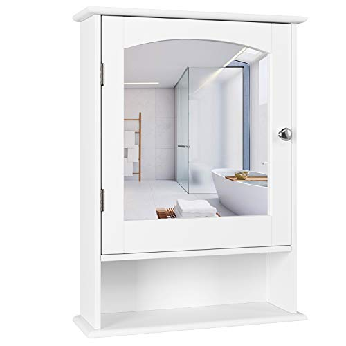 Homfa Bathroom Mirror Cabinet