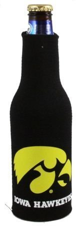 (IOWA HAWKEYES BOTTLE SUIT KOOZIE COOZIE COOLER)