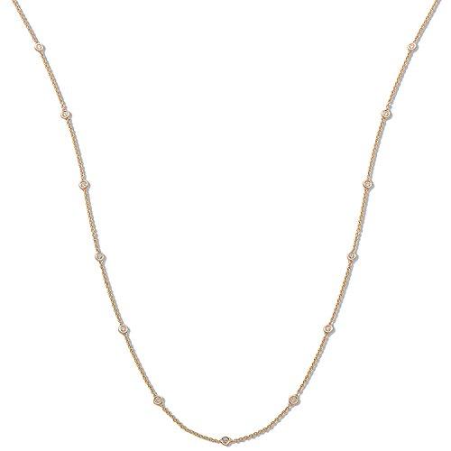 Or jaune 18ct 1,00CT carats Diamant Chaîne (91,4cm/91cm)