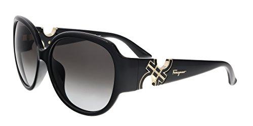 Salvatore Ferragamo Sunglasses SF682SA 001 Solid Black 59 15 - Sunglasses Salvatore Ferragamo