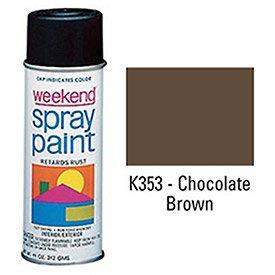 Krylon Industrial Weekend Economy Paint Chocolate Brown - Lot of 6