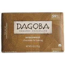 Dagoba Chocolate Organic Baking Semi Sweet Dark Chocolate Bar, 6 Ounce -- 10 per (59% Organic Dark Chocolate)