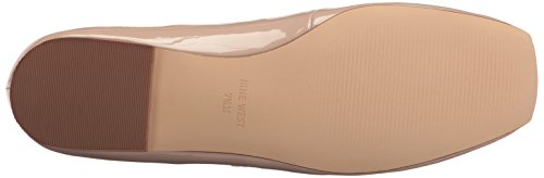 Nine West Womens Zeno Synthetic Ballet Flat Natural fBTWvLXqb4