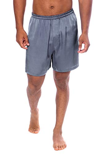 TexereSilk Men's 100% Silk Boxers (Country Club, Quartz, XL) Comfortable ()