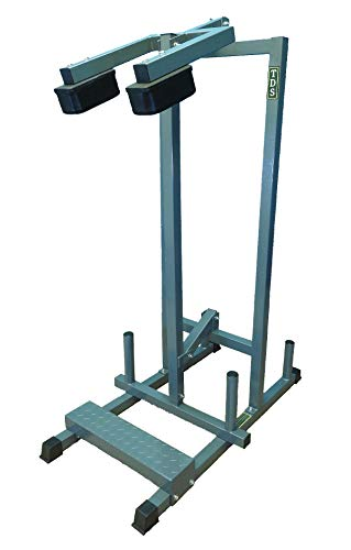 TDS 1000 Rated Standing Calf Unit with Non Slippery Foot Plate Extra Heavy Shoulder Padding