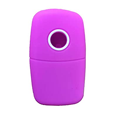 KAWIHEN Silicone Key Fob Cover Fit for 3 Button Volkswagen Bettle Golf Jetta Passta HLO1J0959753AM HLO1J0959753D NBG735868T NBG 735868T: Automotive