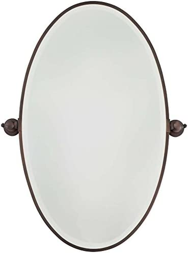 Minka Lavery 1432-267 Oval Bath Mirror, X-Large, Dark Brushed Bronze Plated Finish