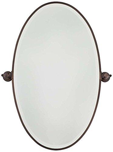Amazoncom Minka Lavery Oval Bath Mirror XLarge Dark - Minka lavery bathroom mirrors