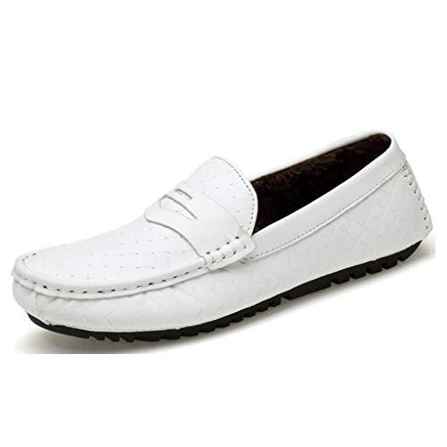 y Slip Confort Hombres F de de Hombres Coreanos Guisantes Mocasines Huecos de conducción Ocasionales Transpirables para YaXuan de los on Zapatos de Zapatos Cuero fqXE5xPw
