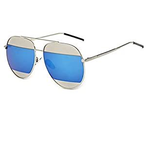 Konalla Personalized Bicolor Avaitor Anti-UV Unisex Sunglasses C1