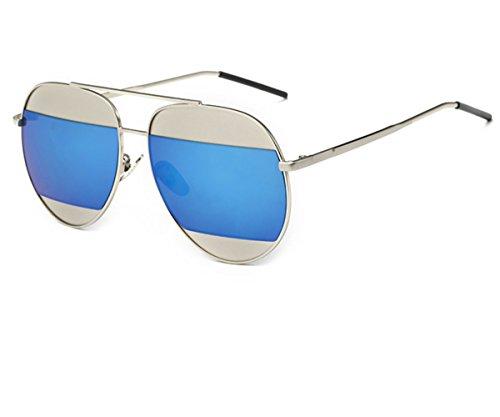Konalla Personalized Bicolor Avaitor Anti-UV Unisex Sunglasses - Sunglasses Heart Tumblr
