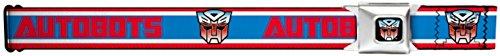 Buckle-Down Seatbelt Belt - AUTOBOTS/Logo Stripe Red/White/Blue - 1.5
