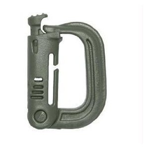 - Military Carabiner Grimloc D-Ring Vest Backpack Keychain Clip Snap Foliage Green (Lot of 4)