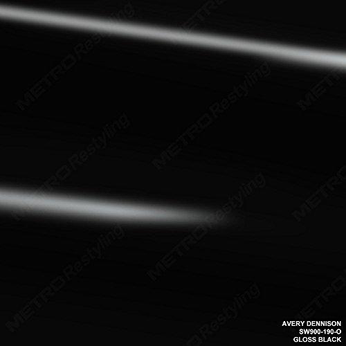 - Avery SW900-190-O GLOSS BLACK 5ft x 6ft (30 Sq/ft) Supreme Vinyl Car Wrap Film