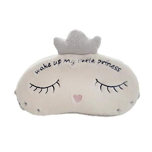 - Blind Eye Mask - Princess Crown Sleeping Eye-Shade, Comfortable Sleep Eye Mask, Breathable Blackout Eyeshade, Plush Eye Cover, Blindfold for Traveling, Sleeping, Suitable for Children, Women - silver