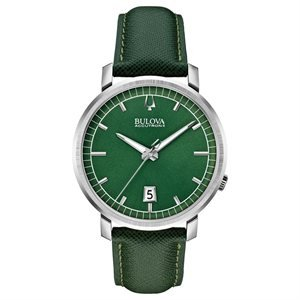96B215 Green Leather Strap (Accutron Band Wrist Watch)