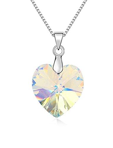 Konalla Romantic Heart Austrian Crystal Elements Pendant Necklace - Ross Shades Rick