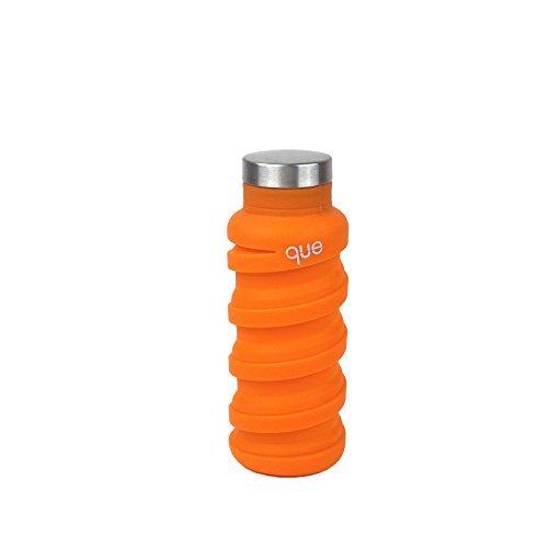 Botella «que» | Diseñada para viajes y excursiones.Botella de agua plegable - Silicón de grado alimentario / Libre de BPA...