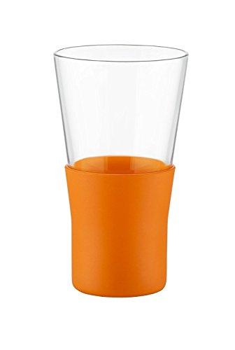 Bormioli Rocco Ypsilon Brio Tall Mug, Orange, Set of 6 ()