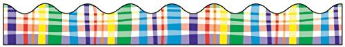 (Pacon Bordette Designs Decorative Border, 2 1/4-Inch x 25-Feet , Perfectly Plaid, 1 Roll, (0037720) by)
