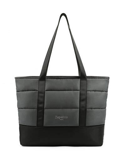Repetto, sac à bandoulière pour femme gris anthracite taille unique