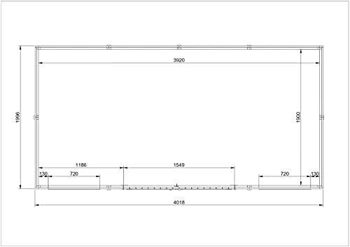 Timbula M332 - Caseta de jardín (madera maciza de pino/abeto, 418 ...