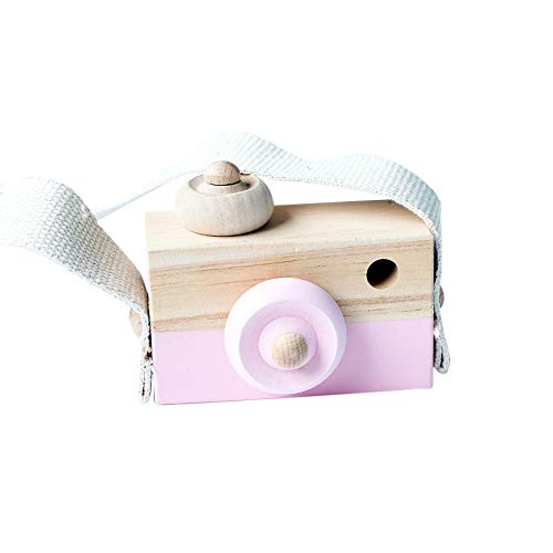 Pink Natural Wood - Allywit Baby Kids Cute Wood Camera Toys Children Fashion Clothing Accessory Safe And Natural Toys Birthday Christmas Gift (Pink)