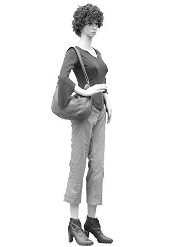 histoireDaccessoires - Bolso con Bandolera de Cuero de Mujer - SA153814RU-Waldo NegroNegro