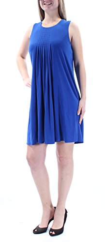 99 Klein Calvin Femmes Robe Col Bijou Sans Manches Bleu 3112 8 B + B