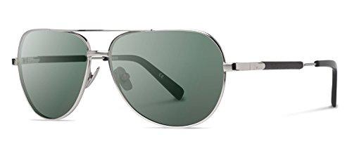 Shwood - Redmond Titanium, Elemental Style, Silver Titanium Ebony, G15 - Aviator Made Sunglasses The Who Original