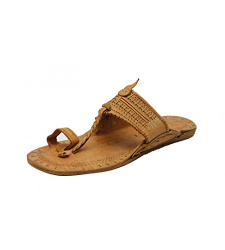 c6546745dd25 StopHere Men s Kolhapuri Brown Leather Chappal 6 UK  Amazon.in ...