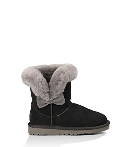UGG Australia Girl's Kourtney Pre/Grade School Black Suede 5
