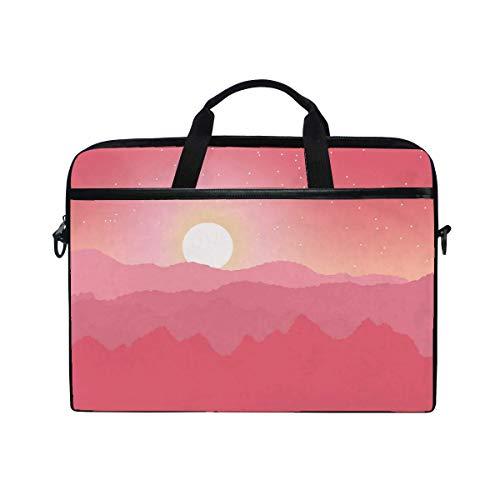 Sun Mountains Horizon Laptop Shoulder Messenger Bag Case Sleeve for 14 Inch to 15.6 Inch with Adjustable Notebook Shoulder Strap