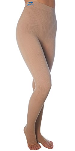 Lipedema Lymphedema, POTS support high compression leggins (K2=25-30 mmHg) – (Nude, XL)