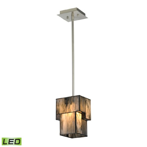 Cubist Collection 1 light mini pendant in Brushed Nickel - LED Offering Up To 800 Lumens (60 Watt Equivalent) With Full Range Dimming. Includes An Easily Replaceable LED Bulb (120V).
