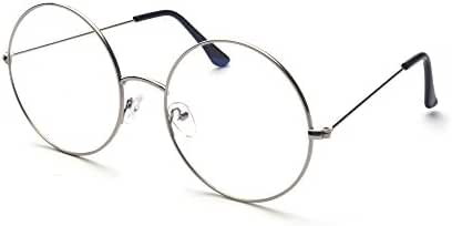 Outray Oversized Round Circle Metal Clear Lens Glasses