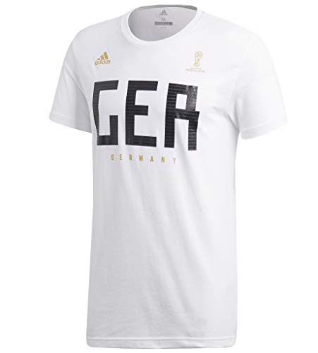 adidas World Cup Soccer Germany Men's Short Sleeve Tee, Small, -