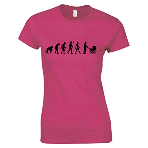 Parenthood Womens Tshirt Evolution of A Family New Born Baby Pink L (Top 10 Best Pushchairs)