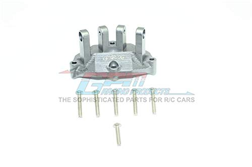 - Losi 1:10 Baja Rey / Rock Rey Upgrade Parts Aluminum Rear Upper Gearbox Mount for Upper Suspension Links - 1Pc Set Gray Silver
