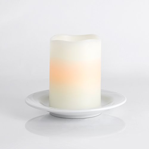 Flameless Pillar Candle - 3x4 LED Candle - White - Perfect for centerpieces for weddings, dinner parties and celebrations or relaxing nights at home by Dynamic Collections