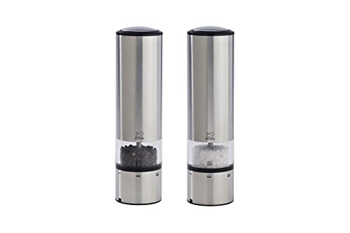 Peugeot Salt Electric - Peugeot Elis Sense u'Select Electric Salt & Pepper Mill Set - Stainless